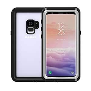 Smilenut Waterproof Galaxy S9 With Built-In Screen Protector Underwater Full Body Samsung Phone Shell Case – Clear Protective Samsung Case With Military Tested Shockproof And Drop Proof Design