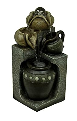 Pottery Plunge Decorative Eternity Tabletop Water Fountain with Spinning Ball