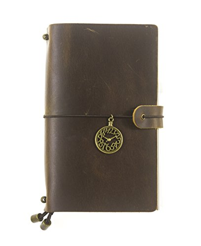 HM&LN Journal Notebook Refillable Lined Paper Handmade Vintage Dairy Traveler's Notebook 6.5
