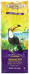 Magnum Coffee Taste of the Exotics Whole Bean Coffee, Jamaican Blue Mountain Blend, 12 Ounce