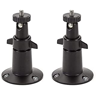 Wasserstein Adjustable Indoor/Outdoor Security Metal Wall Mount Compatible with Arlo Pro/Pro 2/Pro 3/Ultra, & Others - Ring Stick Up Cam Battery, eufyCam E/2C, Wyze Cam Outdoor/Pan (2 Pack, Black)