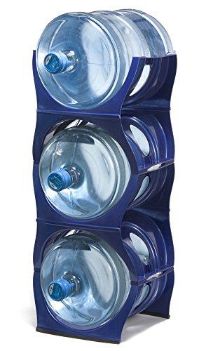 - U Water Cooler Bottle Rack (Blue, Three Bottle Rack)