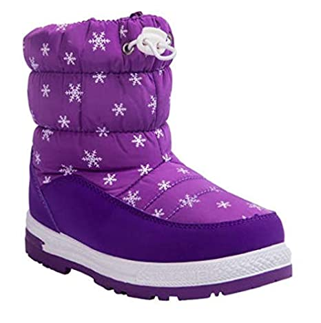 747f23a23818 Image Unavailable. Image not available for. Color  Boots Purple Size 1  Children Snow ...