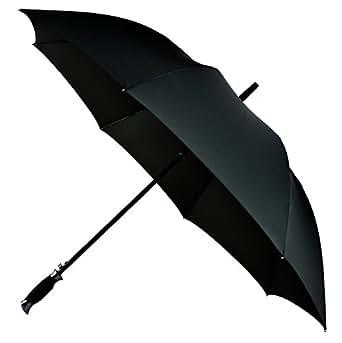 LifeTek New Yorker Large Golf Umbrella 54 Inch Automatic Open Full Size Extra Big Stick Umbrellas Windproof Strong Folding Oversize Teflon All Weather Rain Umbrella Sturdy Sports Men Women Black