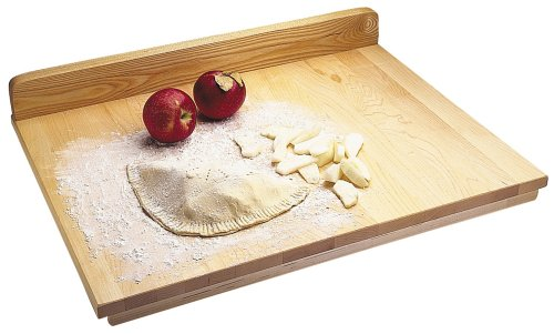 (Snow River USA 7V03345 Hardwood Maple Pastry and Pie Prep Board with Backsplash, 18