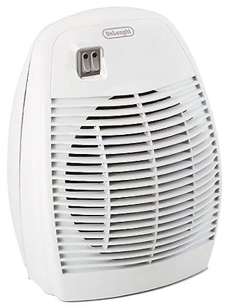 DeLonghi HVA 0220 Termoventilador Vertical con 2 Niveles de Potencia, termostato de Seguridad con asa, 2000 W, 2000 litros, Acero Inoxidable, plástico, ...