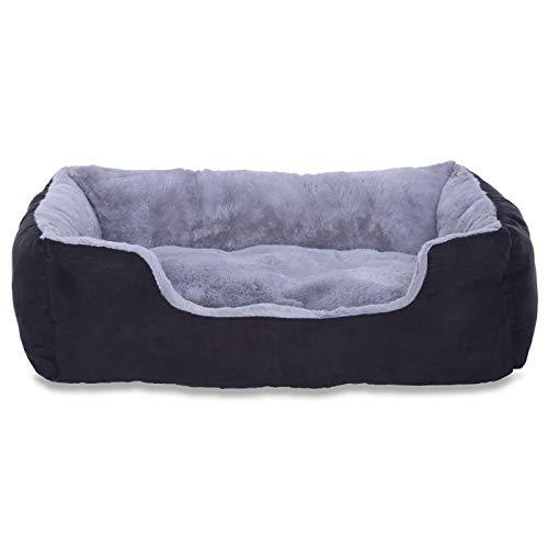 Dibea Cama Perros Cojin Perros Cesta Perros Con Cojin Tamano M Gris/Negro 1 Unidad 650 g