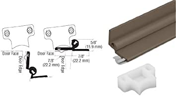 C R Laurence 37896du Crl Bronze Anodized 96 Automatic Security Astragal Weather Stripping Amazon Com