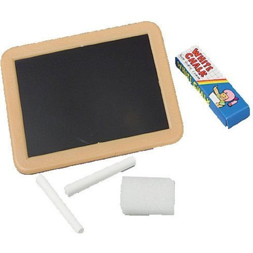 Blackboards W/Chalk And Erasers -Pack of 12 - Blackboard frame colors will vary - neon colors