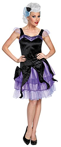 UHC Disney Little Mermaid Ursula Deluxe Outfit Fancy Dress Halloween Costume, S (4-6)