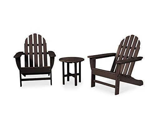 POLYWOOD PWS417-1-MA Classic 3-Piece Adirondack Seating Set, Mahogany ()