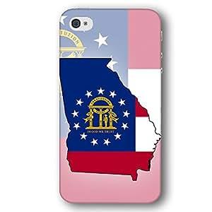 Georgia USA State Flag iPhone 4 and iPhone 4S Slim Phone Case