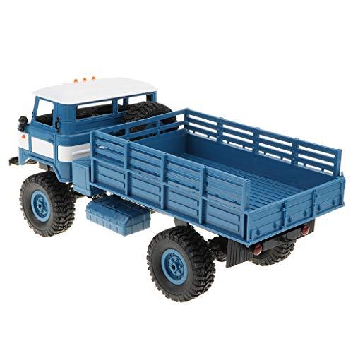 B Baosity 1/16スケール 2.4G 遠隔操作 軍事クライミングトラック トラック模型 子供おもちゃ 贈り物  2色 - 青