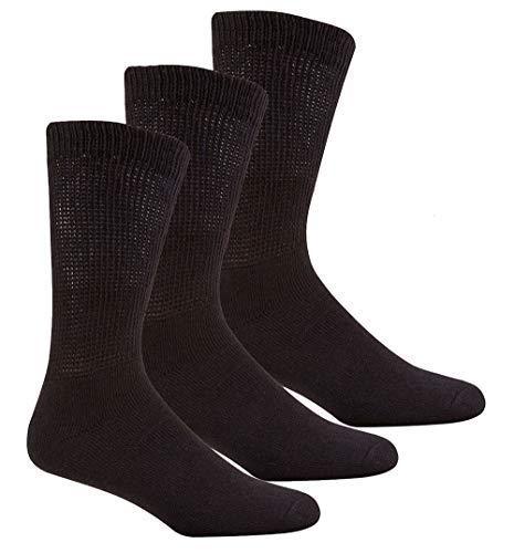 Insignia 3 o 12 Pares Hombre Muy Ancho Calcetines diabéticos más grueso Deporte Trabajo Sin Costura en los dedos de los pies: Amazon.es: Ropa y accesorios