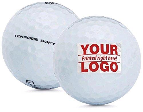 1 Dozen Callaway Chrome Soft Custom Logo Golf Balls + Free Tees