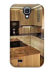 Premium Durable Tan Granite Kitchen Countertops Fashion Tpu Galaxy S4 Protective Case Cover