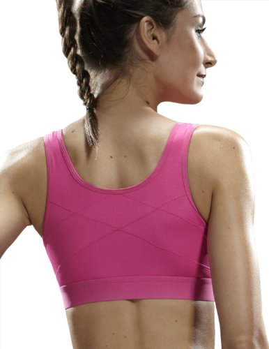 14328f18aa Yvette Zip Front Closure Sports Bra  6015-High Impact Running ...