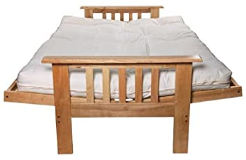 cuba futon sofa bed with mattress   natural  cuba futon sofa bed with mattress   natural   amazon co uk      rh   amazon co uk