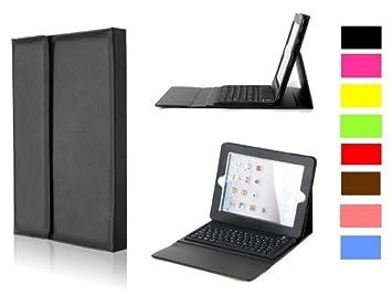 Teclado Bluetooth para iPad, iPad 2 y el Nuevo iPad 3 con estuche ejecutivo tipo piel: Amazon.es: Electrónica
