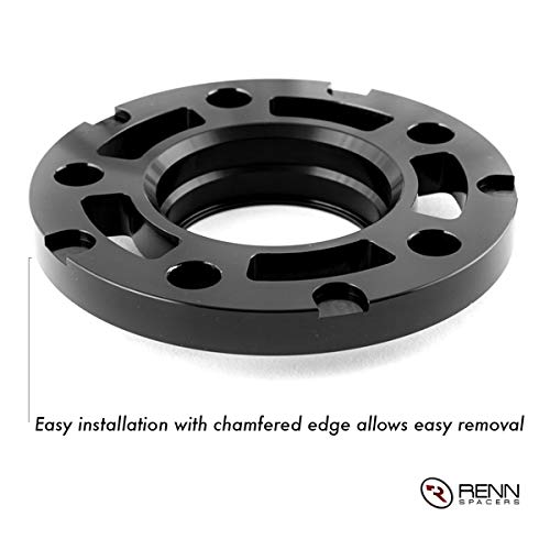 Renn Motorsport Wheel Spacers with Bolts fits BMWs E36 E46 E60 E63 E64 E90 E92 318i 323i 325i 328i 330i 335i 525i 545i Z3 Z4 Z8 M3 M5 2 Pieces 10MM 5x120