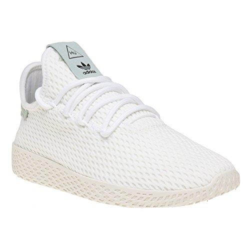 d2739e1b7 Galleon - Adidas Originals Pharrell Williams Tennis Hu White Green Textile  5.5 M US Big Kid