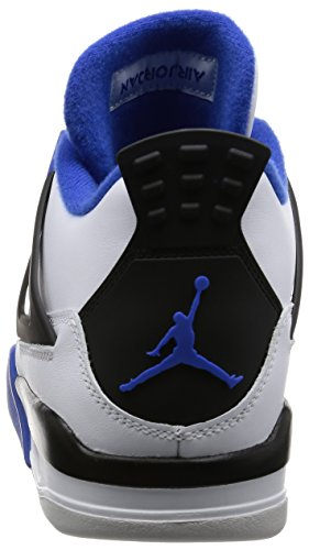 Jordan Men Air Jordan 4 Retro Motorsports (white / game royal-black) Size 9.0 US