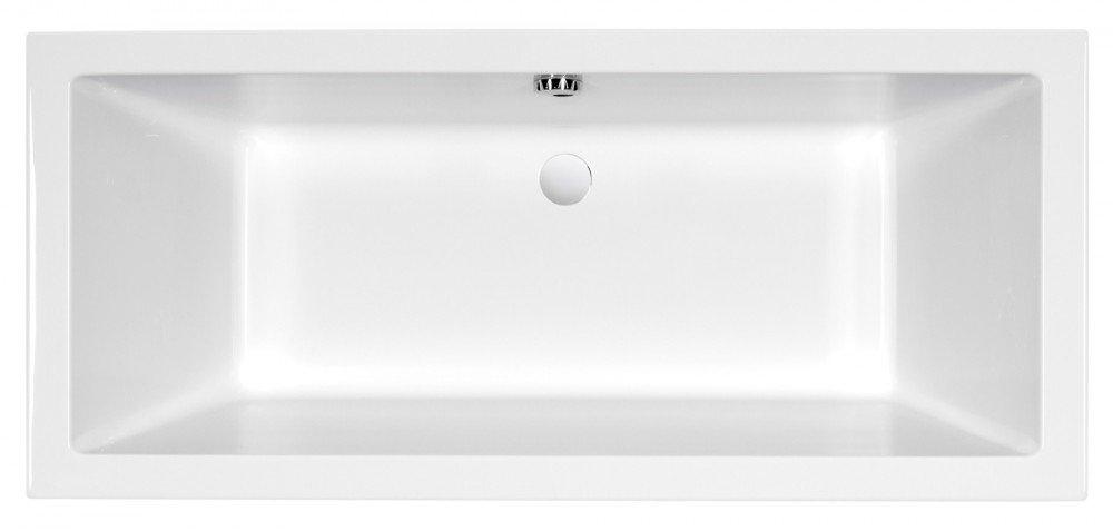 AQUADE extra starke Badewanne 8mm Acryl-Badewanne Wanne Acrylwanne Rechteckwanne Wei/ß 170cm x 75cm x 55cm Modell Ulm 170x75