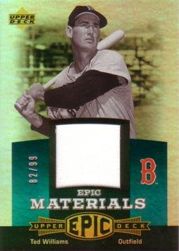 2006 Upper Deck Epic Materials #EM-TW1 Ted Williams Game Worn Jersey Baseball Card