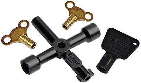 Bulk Hardware - Juego de llaves para radiadores/contadores