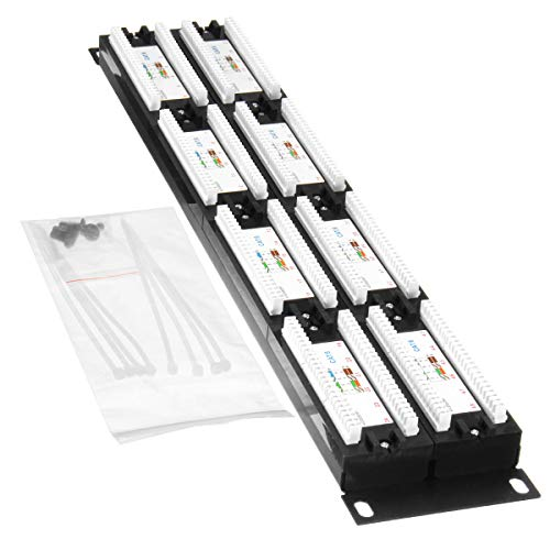 110 Type 48-Port Cat6 Unshielded Wallmount or Rackmount Patch Panel Cat6 Patch Panel - Tools & Home Improvement Switches & Sockets - 1x 48 Port CAT6 Patch Panel RJ45 Network Ethernet Rack