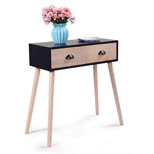 Price comparison product image Small Computer Desk Laptop Table 2 Drawer Home Furniture Modern Writing Table