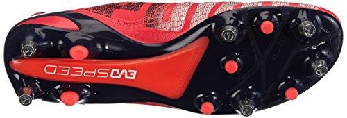 Puma Evospeed 1.3 Lth Mixed Sg - Zapatillas de fútbol rojo - Rot (bright plasma-white-peacoat 02)