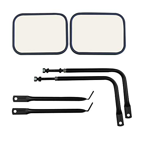 Easy-Install Adventure Mirrors For ALL Jeep Wrangler Jeep Mirrors JK JL TJ YJ CJ Improved Design Bonus Product Quicker install door hinge mirror for safe doors off driving