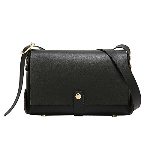 Bag Small Crossbody Rivet Bags Black Bag Chains Leather Bag Waterproof Women Square BftqUFxcw