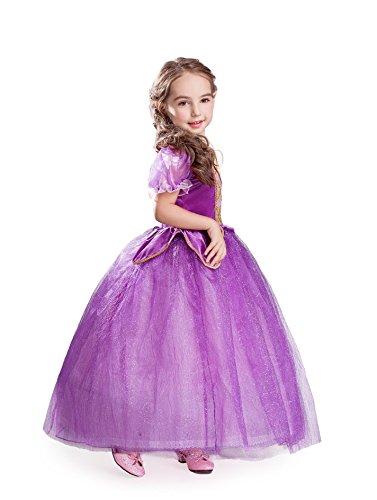 Elsa Anna Princesa Disfraz Traje Parte Las Niñas Vestido Girls Princess Fancy Dress Es Fba Rap1 6 7 Años Es Rap1
