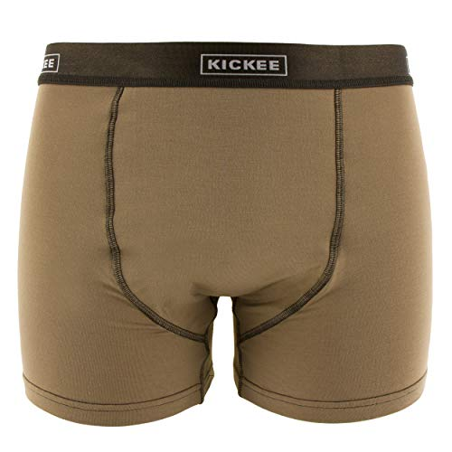 - KicKee Men's Solid Boxer Brief - Tannin with Bark, X-Large