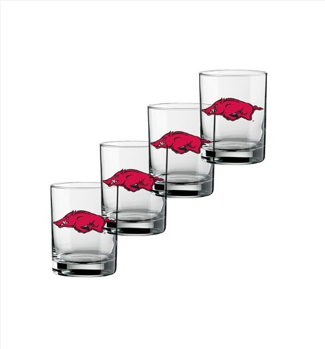 ncaa-arkansas-razorbacks-set-of-4-double-old-fashioned-glasses-14-ounce