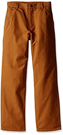 Carhartt Big Boys' Adjustable Waist Dungaree Pant, Carhartt Brown, 8