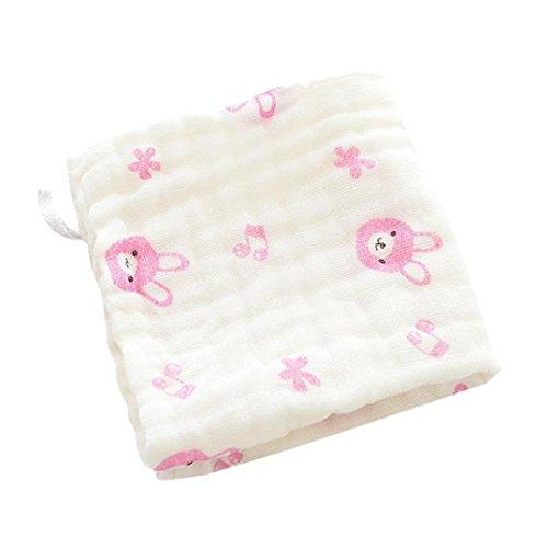 Baby Girls Boys Bibs, VEKDONE 6 Layer Baby Bibs Cotton Soft Saliva Handkerchief Toddler Feeding Burp Towel (J)