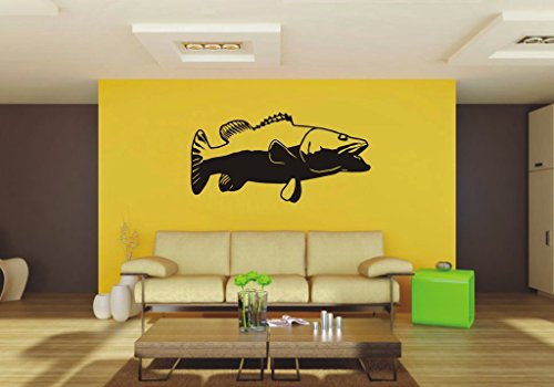 Picniva bass sty3 removable Vinyl Wall Decal Home Dicor (Wall W518)