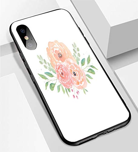 iPhone X/XS Ultra-Thin Phone case Watercolor Wedding Flowers Watercolor Peonies and Leaves Floral Arrangement Wedding Clipart Anti-Drop Anti-Slip Soft Convenient Protective - Wedding Clipart