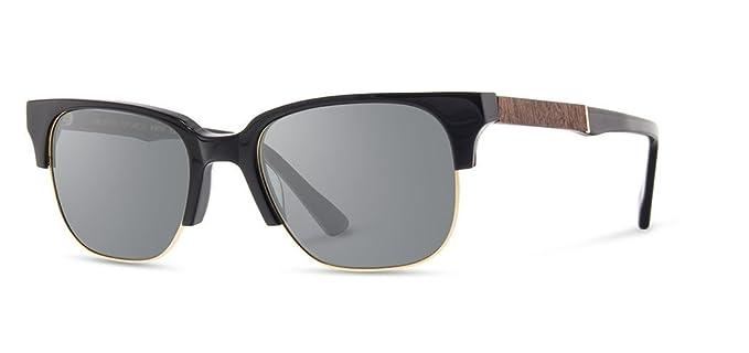 166a76b41a Shwood - Newport 52mm Rectangle Acetate   Wood Sunglasses - Black     Mahogany