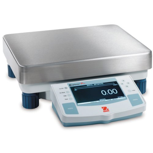 Ohaus Explorer Pro ABS/Stainless Steel High Capacity Precision Balance, 12000g x 0.1mg