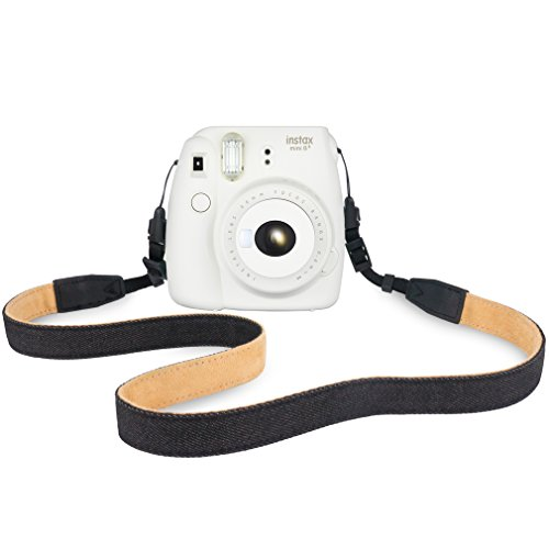Elvam Camera Neck Shoulder Belt Strap for Men/Women Compatible with Fujifilm Instax Instant Mini 8/8+/9/7s/25/50/90, Digital Camera, Sony, Nikon, Canon, Olympus Etc Mirrorless Camera, Black