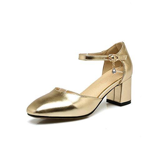 AdeeSu Womens Non-Marking Structured Fashion Urethane Sandals SLC03864 Gold EyO6Kr