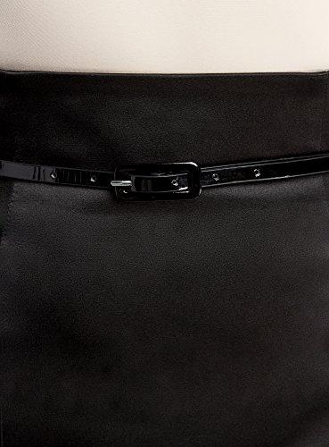 Jupe oodji Ceinture Femme Noir Collection 2900n avec Coupe Droite FxEgf