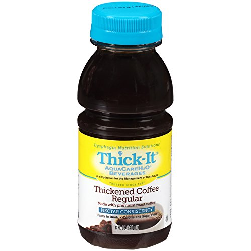 Thick-It Aquacare H2O Nectar Consistency Pre-thickened Coffee Regular, 8 Ounce (Pack of 24) by THICK-IT