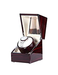 [New Style Rubber Wood] Love Nest automatic wood Single Watch Winder with Piano Finish Pure Handmade with High Quality Japanese Mabuchi Motor