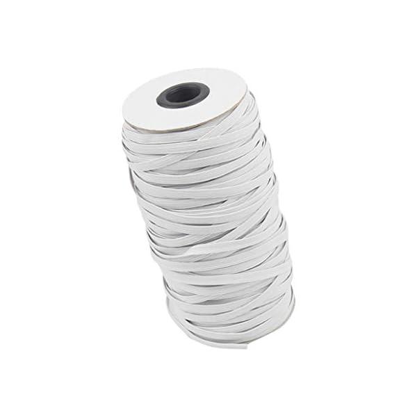 Webla 5M 6mm Elastico Per Cucito Elastici Larghi Intrecciati Stretch String Braided Elastic Band Elastic Rope 2 spesavip