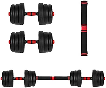 Free Adjustable Weights Dumbbells Barbell Set to 40lbs for Men and Women Mancuernas Home Fitness Dumbbell Combination Gym Work Out with Storage Box